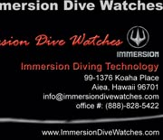 Immersion Diving Techonology USA - Business Card